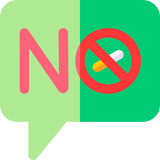 """Illustration showing cigarettes and the word """"no"""""""