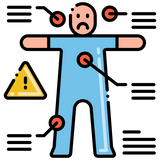 Illustration of body pointing out withdrawl symptoms from smoking