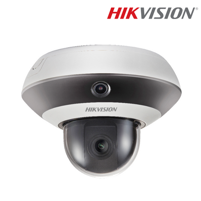 DS-2PT3122IZ-DE3. HIKVISION 2MP IP PanoVu Mini PTZ Dome Camera, 10m Smart IR Night Vision, 3 Year Warranty. *Special Order Item*