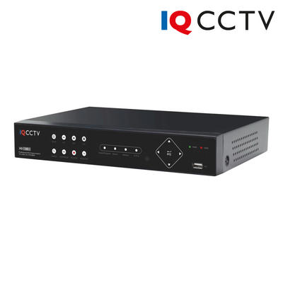 IQR3000D4H. IQCCTV 4+2 Channel (4 Analogue HD + 2 IP Cameras) 3MP Hybrid DVR Recorder, Clearance Product, 30 Day Warranty.
