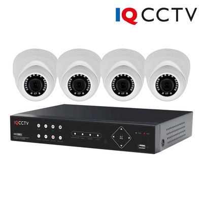 IQS4-2000-V-24H-1T. IQCCTV 2MP Analogue AHD 4x Turret Dome Camera System, 1 Year Warranty