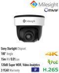 Milesight HD-IP 8MP 180º Panoramic Dome Camera<br><small>Model: MS-C8176-PB</small>