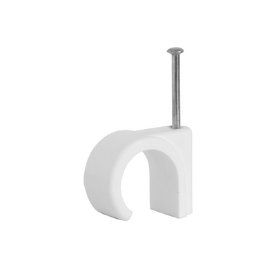 T-6CC-W-100. Cable Clips Suitable for 6.0mm cable, Pack of 100, Clearance Product, 30 Day Warranty.