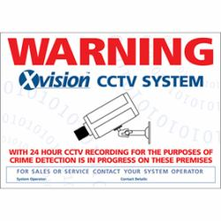 Internal Adhesive A4 Warning Sticker/Sign<br><small>Model: WSWIN</small>