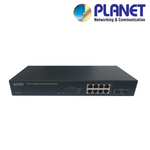 XIPPOESW-8-M. PLANET 8-Port Gigabit Managed PoE Switch, Clearance Product, 30 Day Warranty.