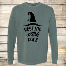 Load image into Gallery viewer, Resting Witch Face Comfort Colors Long Sleeve Tee