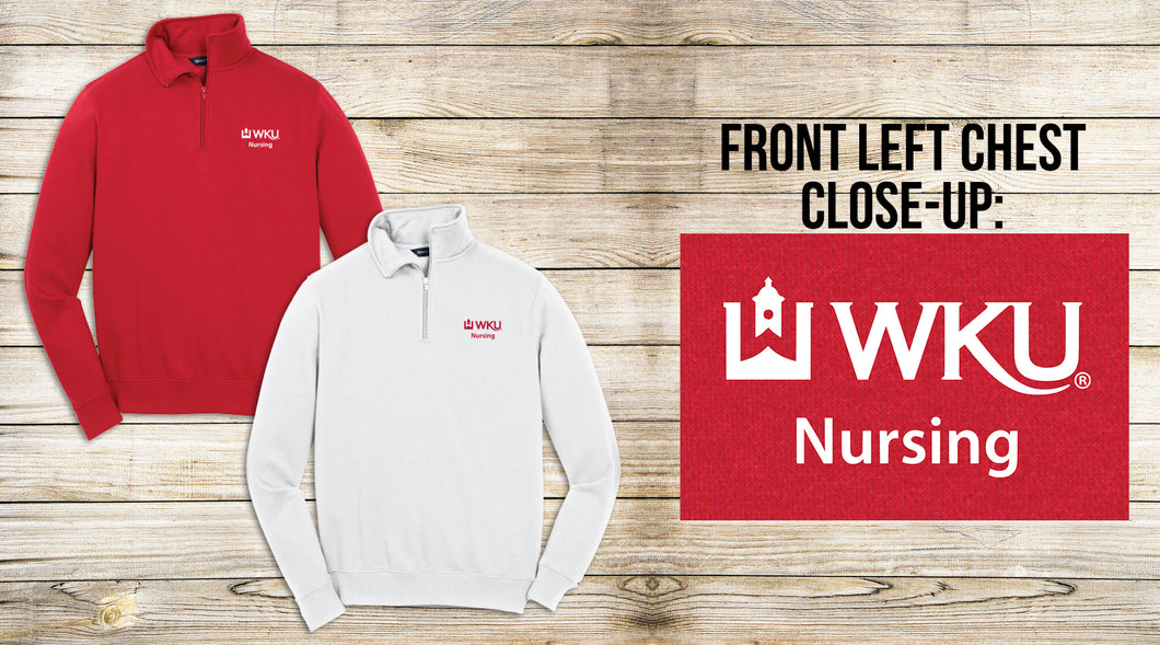 WKU Nursing Embroidered 1/4 Zip