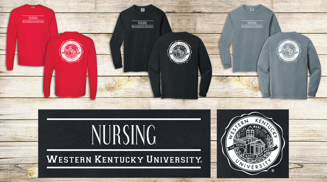 WKU Nursing Comfort Colors Long Sleeve