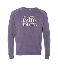 Load image into Gallery viewer, Metallic Gold Hello New Year Sweatshirt