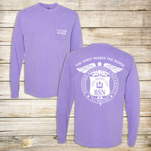 Load image into Gallery viewer, WKU Nursing Future Nurse Comfort Color Long Sleeve Pocket Tee