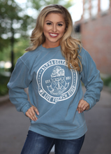 Load image into Gallery viewer, Greek Crest Comfort Colors Crew