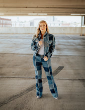 Load image into Gallery viewer, Vintage Denim Patchwork Outfit -SIZE MEDIUM