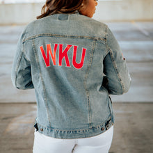 Load image into Gallery viewer, WKU Stars Denim Jacket