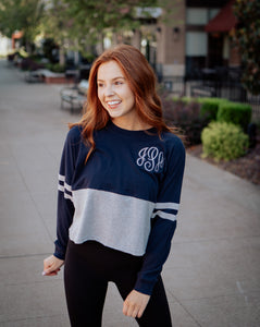 Monogrammed Women's Cropped Retro Jersey