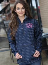 Load image into Gallery viewer, Women's Charles River Monogrammed Windbreaker