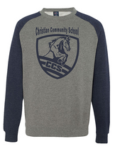 Load image into Gallery viewer, Christian Community School CCS Colorblock Sweatshirt