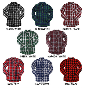 Monogrammed Ladies Flannel Button Down