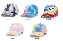 Load image into Gallery viewer, Monogrammed Tie-Dyed Hat
