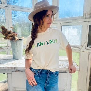 Plant Lady Embroidered Tee