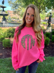 Monogrammed Applique Sweatshirt