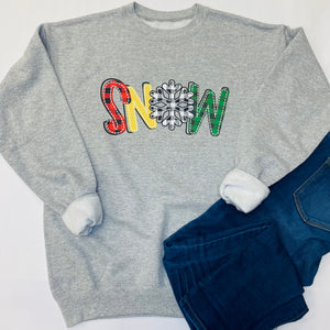 Plaid Snow Sweatshirt