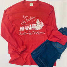 Load image into Gallery viewer, Fun Old Fashion Kentucky Christmas Long Sleeve Tee