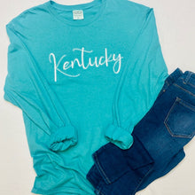 Load image into Gallery viewer, Embroidered Kentucky Garment Dyed Long Sleeve Tee