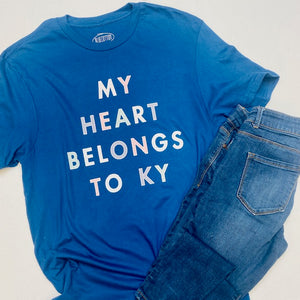 My Heart Belongs To KY Short Sleeve Tee