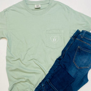 Kentucky on your heart Comfort Color Pocket Tee