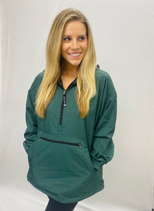 Hunter Green Charles River Pack-N-Go Pullover