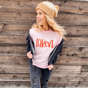 Taken Valentine's Day Comfort Colors Short Sleeve Tee