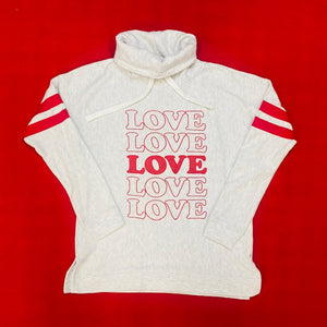 Valentine's Day Ladies Love Cowlneck Sweatshirt