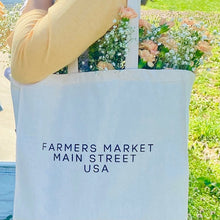 Load image into Gallery viewer, Farmers Market Shopping Tote