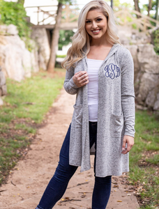 Monogrammed Tunic Length Wrap