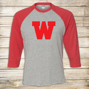 W Applique Baseball Tee - Toddler, Youth & Adult Sizes