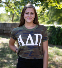 Load image into Gallery viewer, Alpha Delta Pi Camo Crop