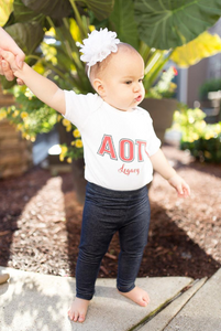 Alpha Omicron Pi Legacy Infant Creeper
