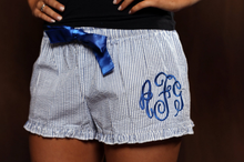 Load image into Gallery viewer, Monogrammed Seersucker Shorts