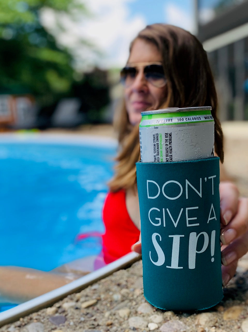 Don't Give A Sip Slim Koozie