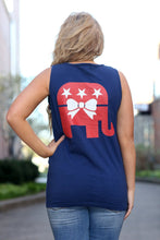 Load image into Gallery viewer, Patriotic Elephant Comfort Colors Tank