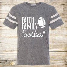 Load image into Gallery viewer, Faith Family Football Tee