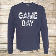 Load image into Gallery viewer, Distressed Game Day Comfort Colors Long Sleeve Tee