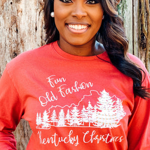 Fun Old Fashion Kentucky Christmas Long Sleeve Tee