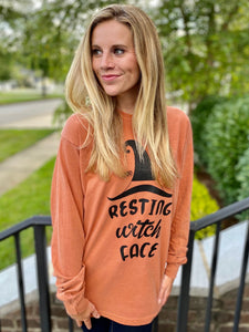 Resting Witch Face Comfort Colors Long Sleeve Tee