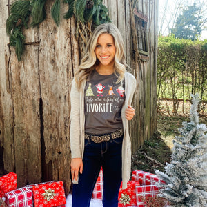 Create Your Own Christmas Favorites Tee