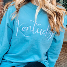 Load image into Gallery viewer, Embroidered Kentucky Garment Dyed Sweatshirt
