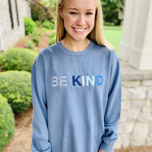 Be Kind Embroidered Comfort Colors Sweatshirt