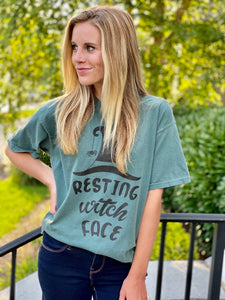 Resting Witch Face Comfort Colors Tee