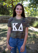Load image into Gallery viewer, Kappa Delta Camo Crop