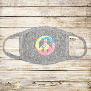 Peace Sign Protective Mask - Pastel
